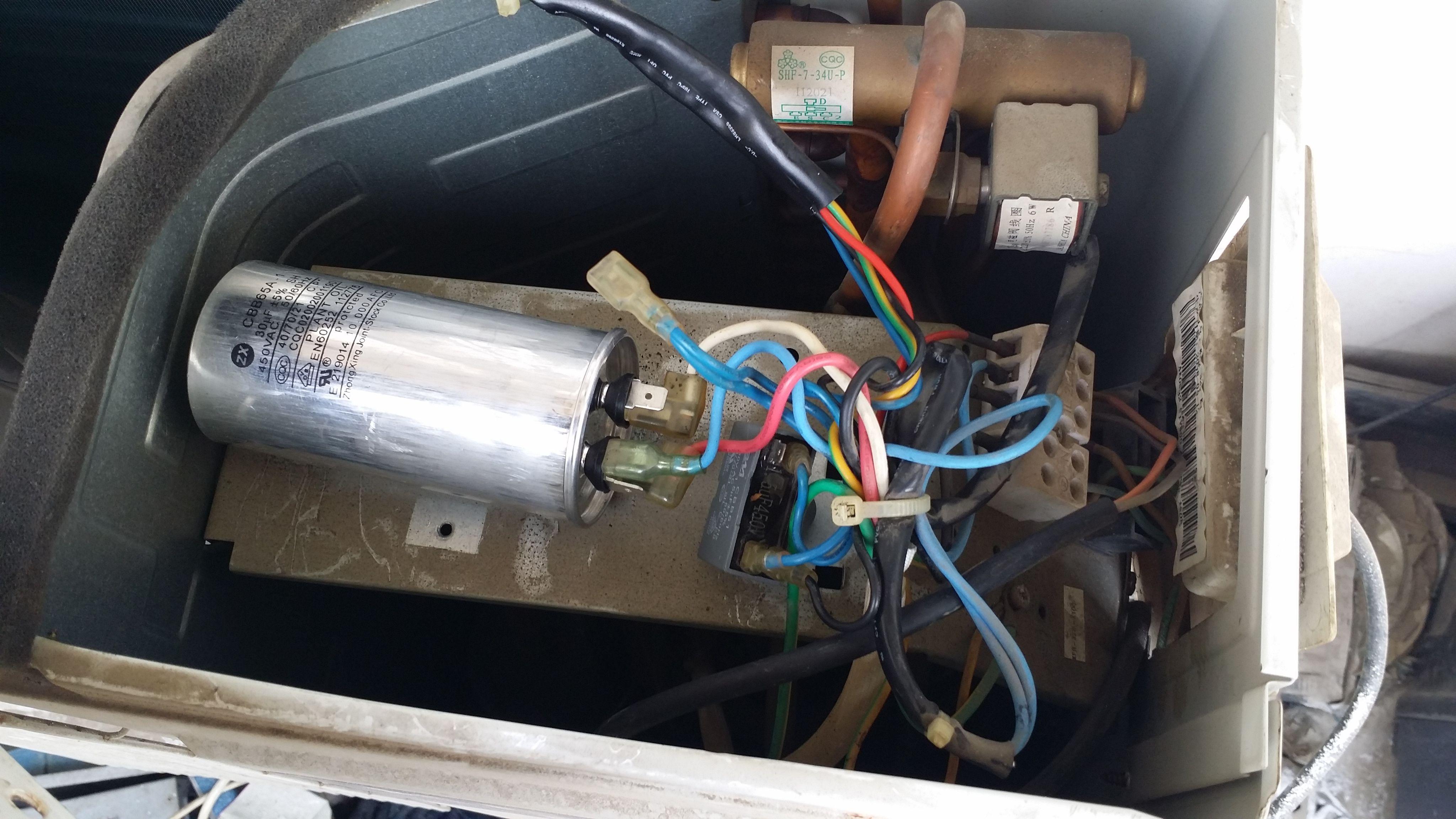 请教科龙空调外机电容接线方法