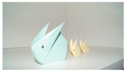 求这种兔子的折法,求具体教程或者视频教程,谢谢图片