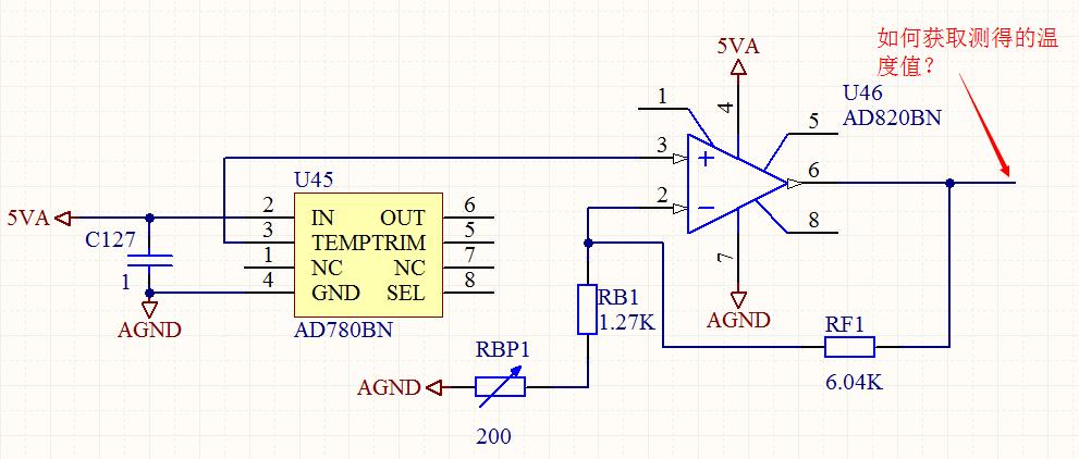 使用ad780设计电机测温电路时的疑问