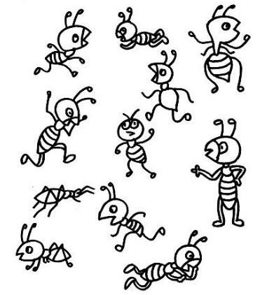 蚂蚁怎么画