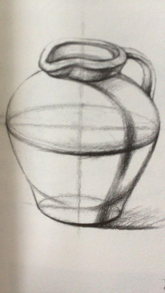 图片中的罐子只画了结构,哪位大神帮我画完,让我临摹.