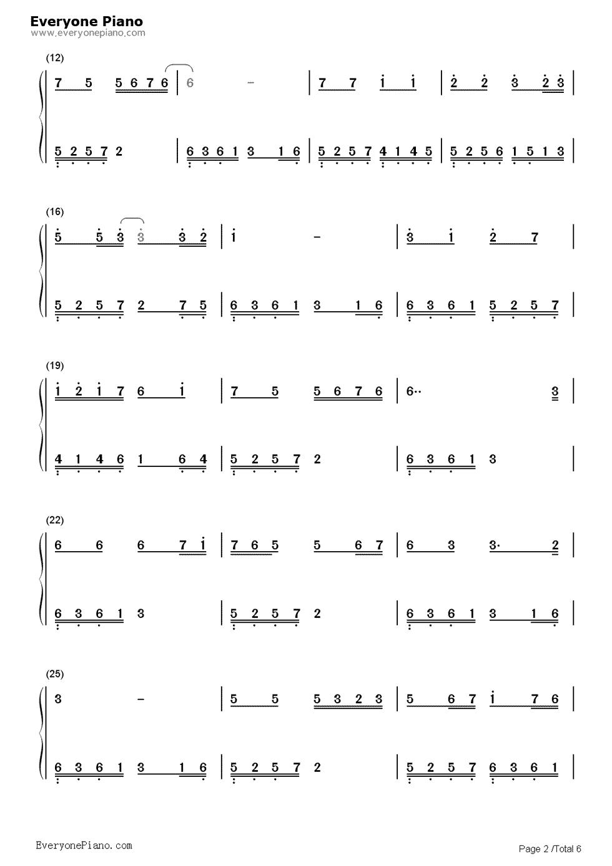 追梦人钢琴简谱