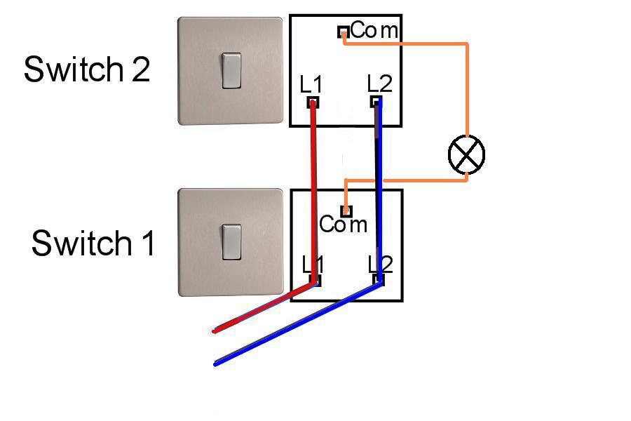 双控电路布线控制