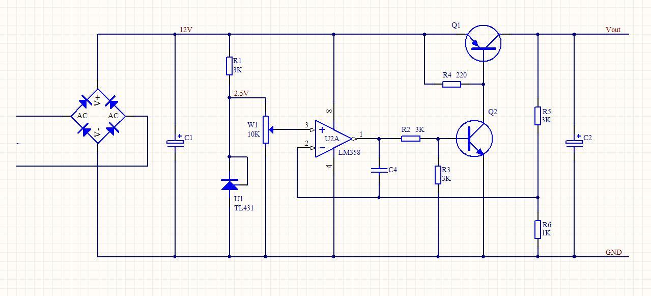 求输入12v输出0-10v线性可调的电源转换电路.