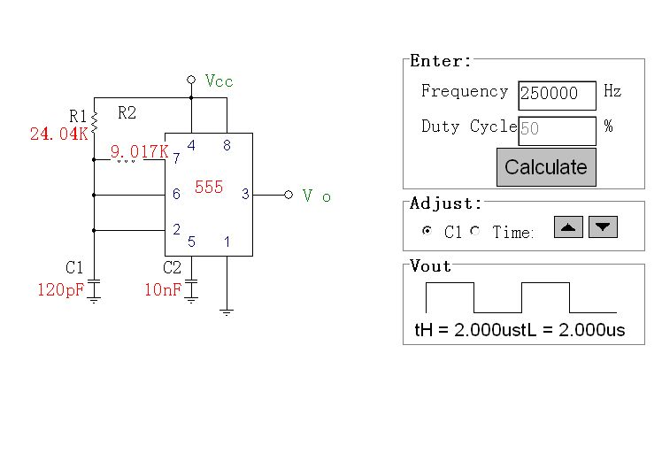250khz方波 振荡器电路图,急用