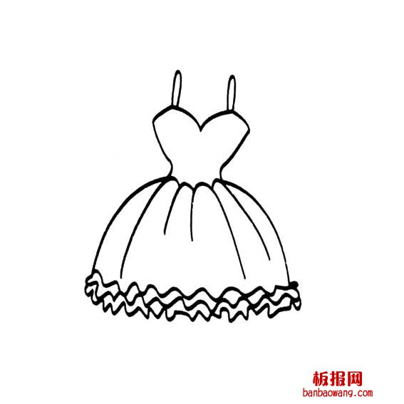 公主的裙子怎么画
