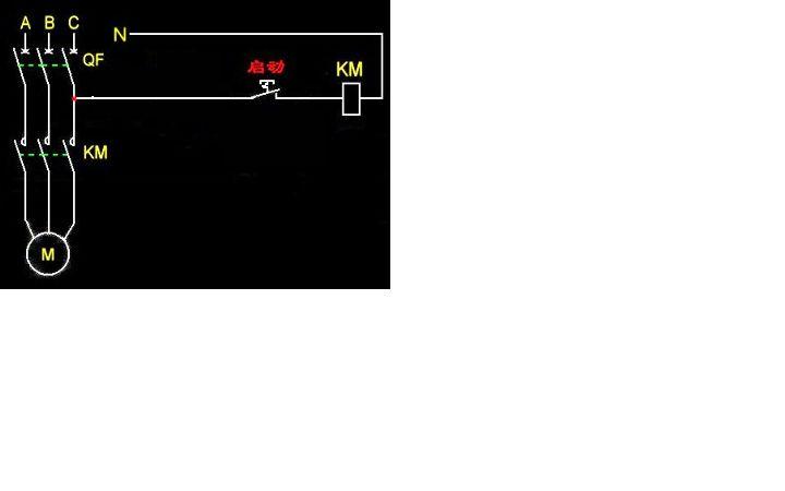 水泵220接触器接线图只有一个开关没有继电器怎么接线