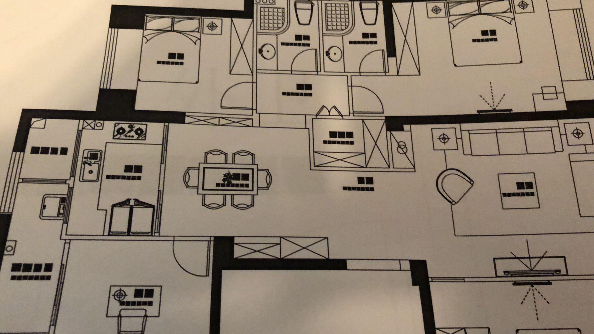 CAD打印预览字体出来黑块,转化的时候都正常平面图变成为cad图片