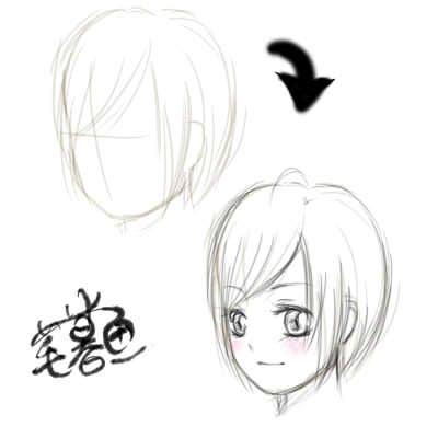动漫人物的表情怎么画?还有脖子,领口和锁骨怎么画?