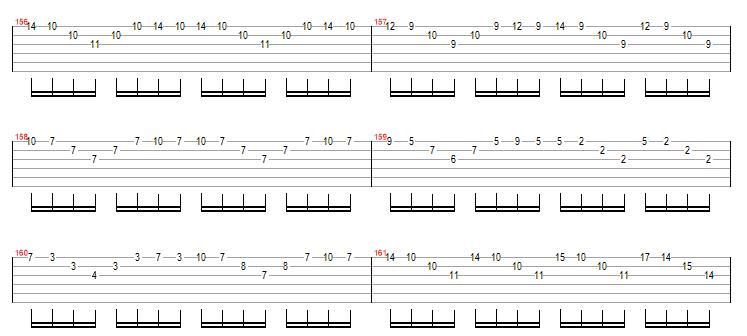 谁有吉他卡农轮指部分的谱子啊?
