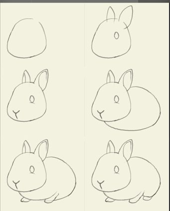 大象怎么画? 猴子怎么画?兔子怎么画?