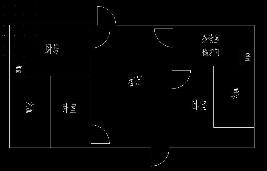 帮忙设计一个北方农村平房户型图,长12米,宽6米