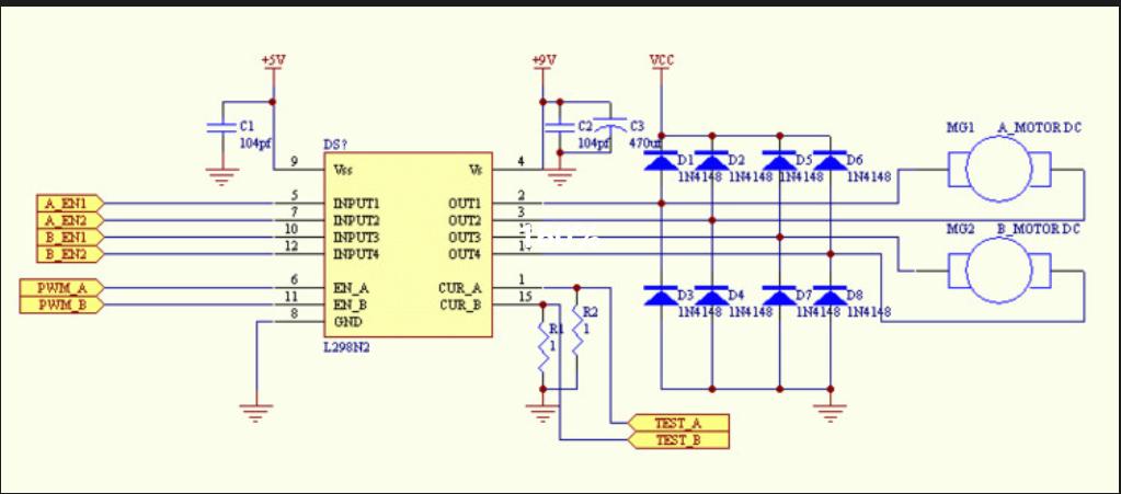 关于l298n电机驱动电路的问题