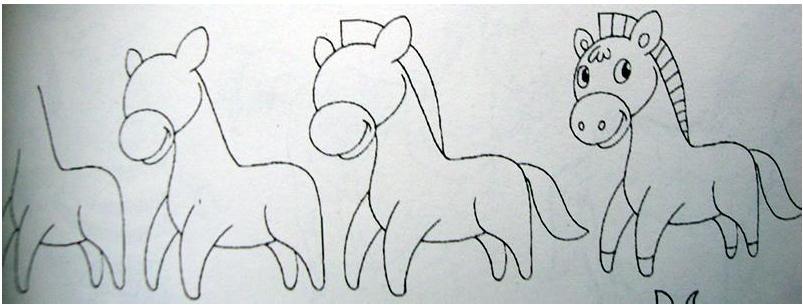 马怎么画简笔画图片