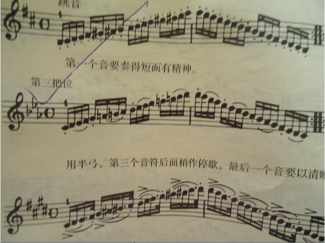 小提琴第三把位这个怎么拉图片