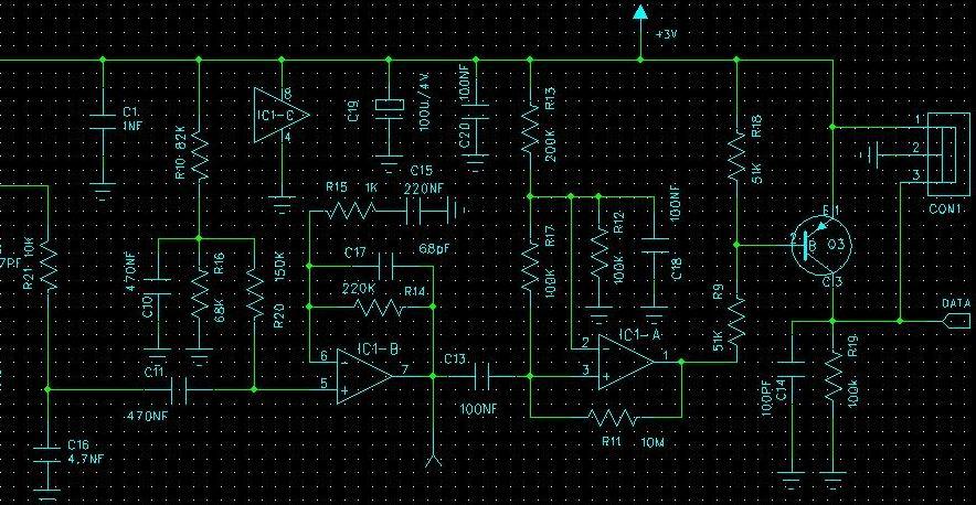 此电路为一个微弱信号运算放大器,绝对原创,并经大批量量产稳定