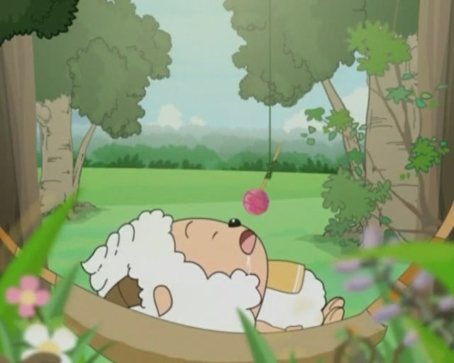 灰太狼向老婆求饶或懒洋洋睡觉流口水的图片