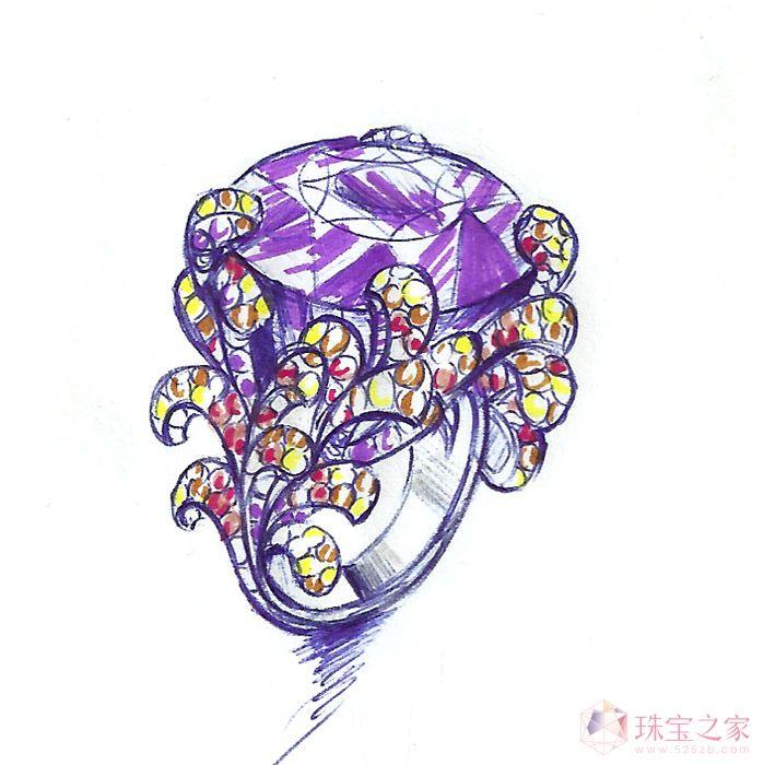 服装设计手稿钻石部分怎么画