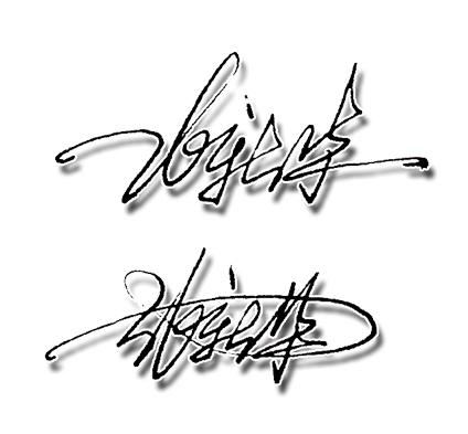 名字張新華草體簽名圖片