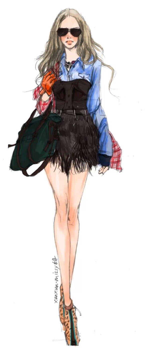 学手绘服装设计初学要