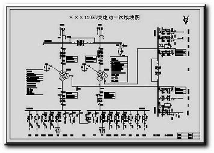 110kv-35kv-10kv变电站主接线图