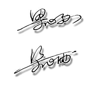 梁心雨艺术签名设计手写稿图片