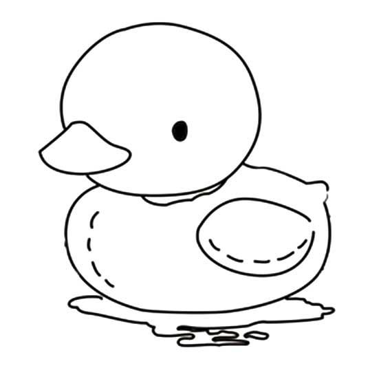 大黄鸭简笔画