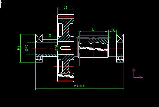 二级减速器,这个件,求装配图