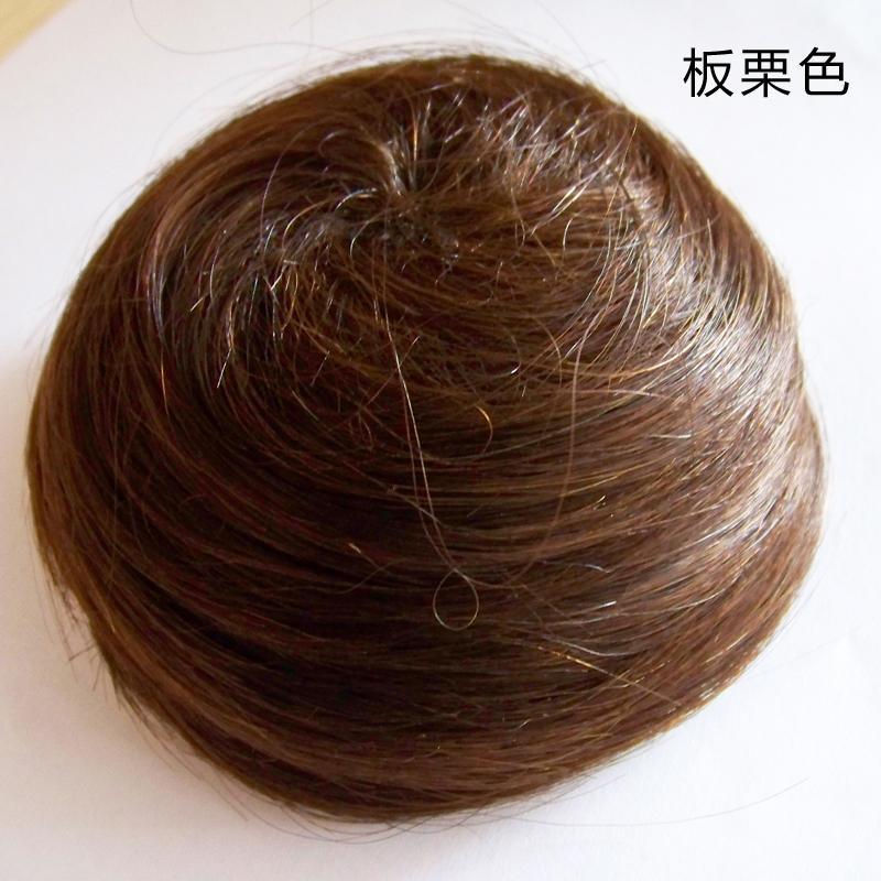 发包假发丸子头真发好还是别的?丸子头假发包邮掉发吗图片
