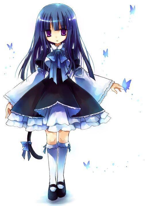 蓝发紫瞳动漫人物