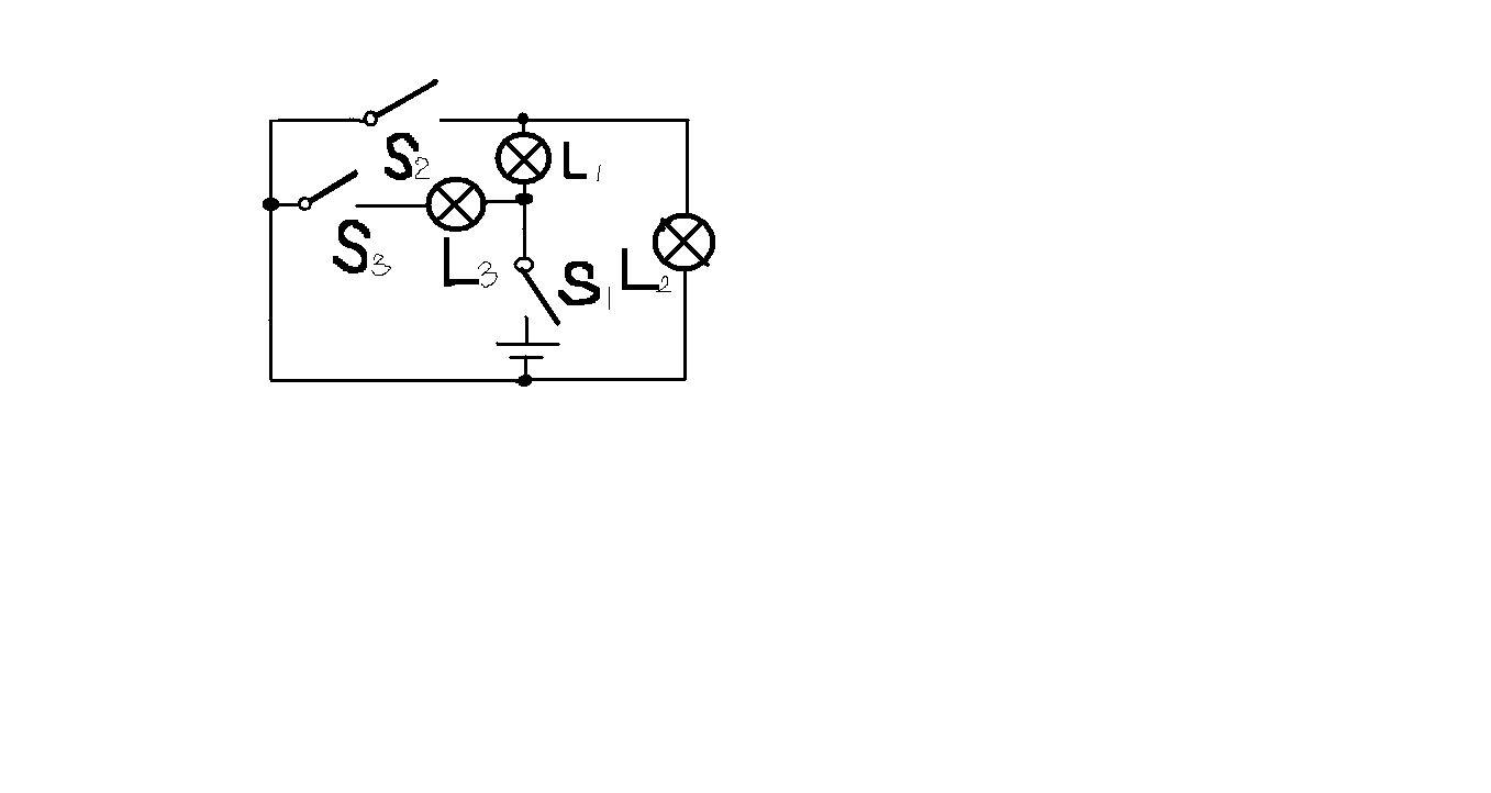 ①当只闭合s1时,电路中能发光的灯有____,②闭合开关s1,s2时,电路中不