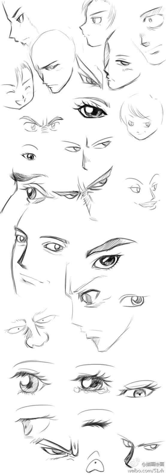 动漫人物眼睛和头发怎么画