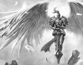 六翼天使的线条,拿去纹身. 黑白单色的. 跪求