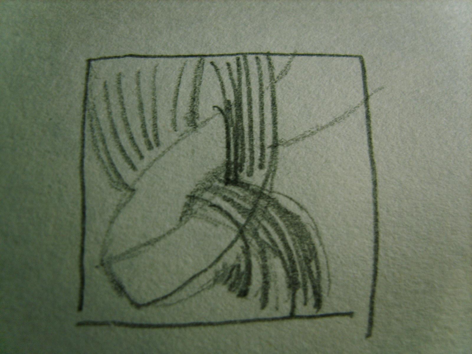 黑底白线, 白线打算粗细渐次变化,方向也不完全相同,这能算是渐变