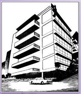 求两个建筑的三点透视图! 像这样的