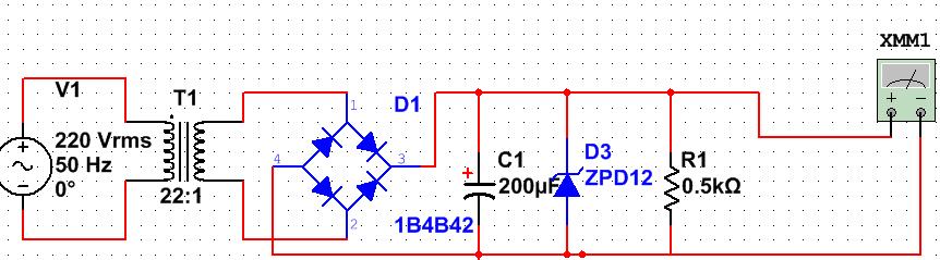 最佳答案 加入稳压管后,输出电压取决于稳压管的稳压电压,而不是整流