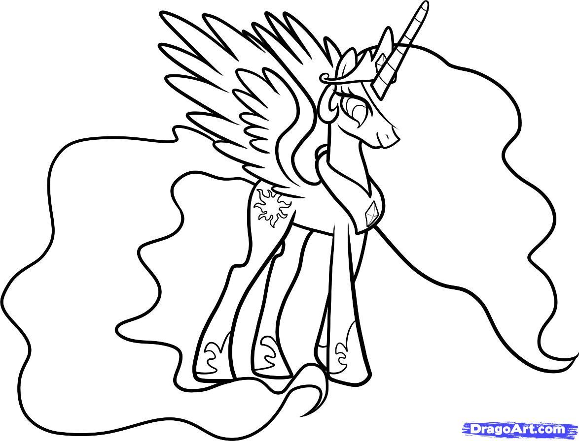 小马宝莉简笔画太阳公主