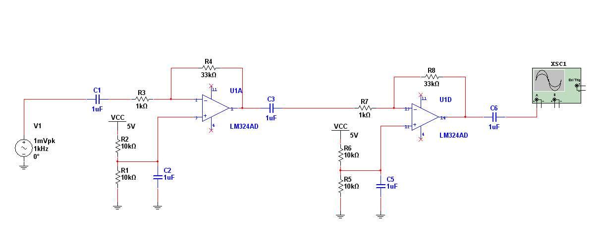 关于lm324的放大器设计