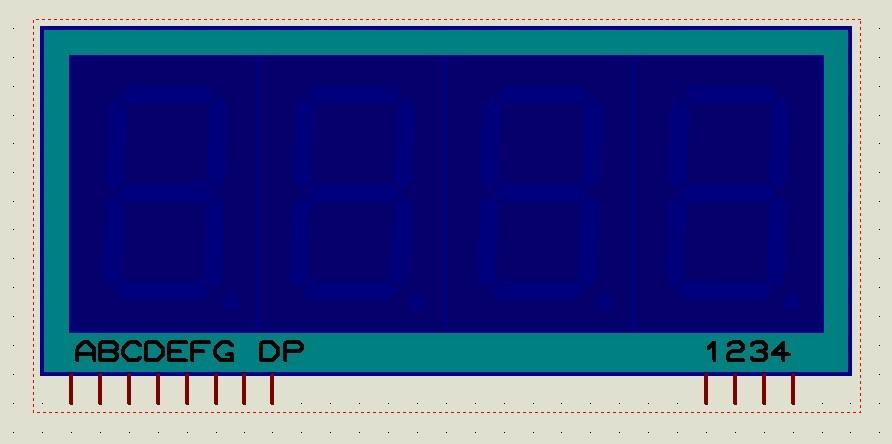proteus元件功能问题 7seg-mpx4-ca-blue 引脚功能