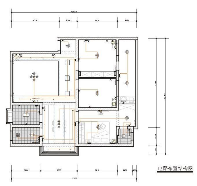 装修电路图怎么画啊,自己的小办公室,长方形,7m*3.5m