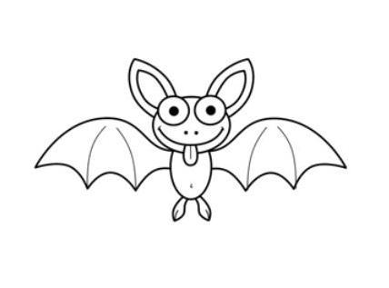 蝙蝠怎么画
