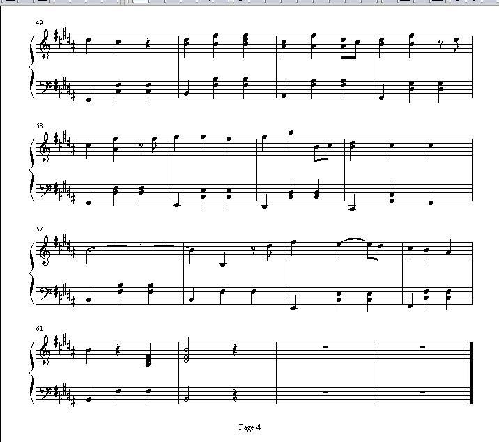 h.e的  老婆>>三重唱歌谱