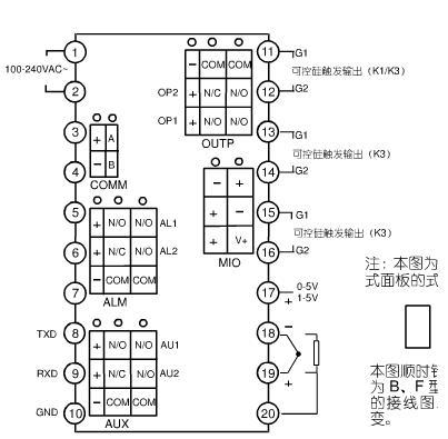 固态继电器和交流接触器控制反应炉的温度,连线时控温表接哪个接线头?