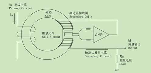 霍尔电流传感器电路原理接线图