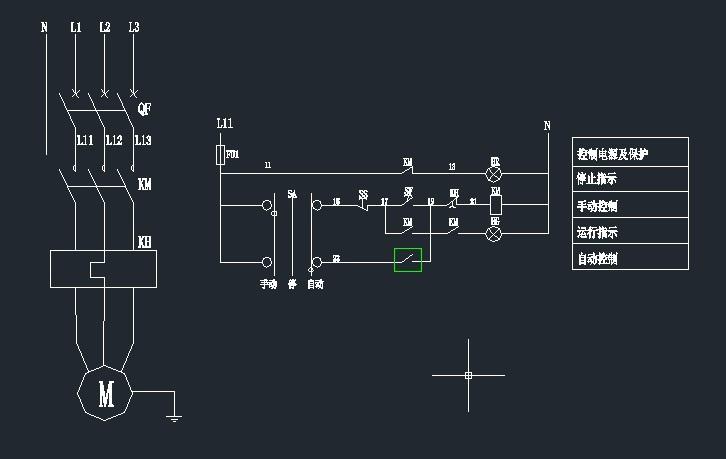 380v配电箱手动自动控制电路图