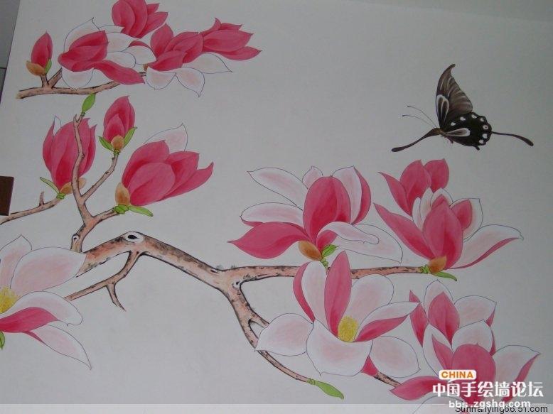 手绘墙的图片