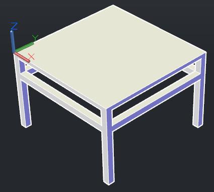 问用cad画桌子的立体图怎么画