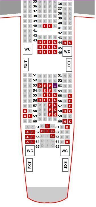 帮忙在飞机上选座位,空客a340-600图片