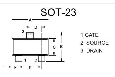 nmos管 2301是什么意思?它的pcb封装是什么样的?最好能提供图片