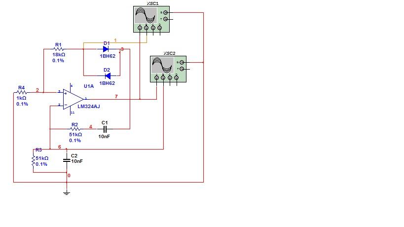 rc桥式正弦波振荡电路 multisim